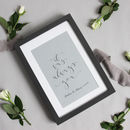 Personalised Calligraphy Wall Quote