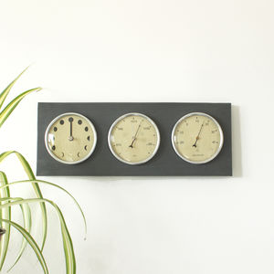 Recycled Moon, Thermometer And Barometer Dial - clocks