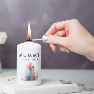 Mother's Day Photo Message Candle