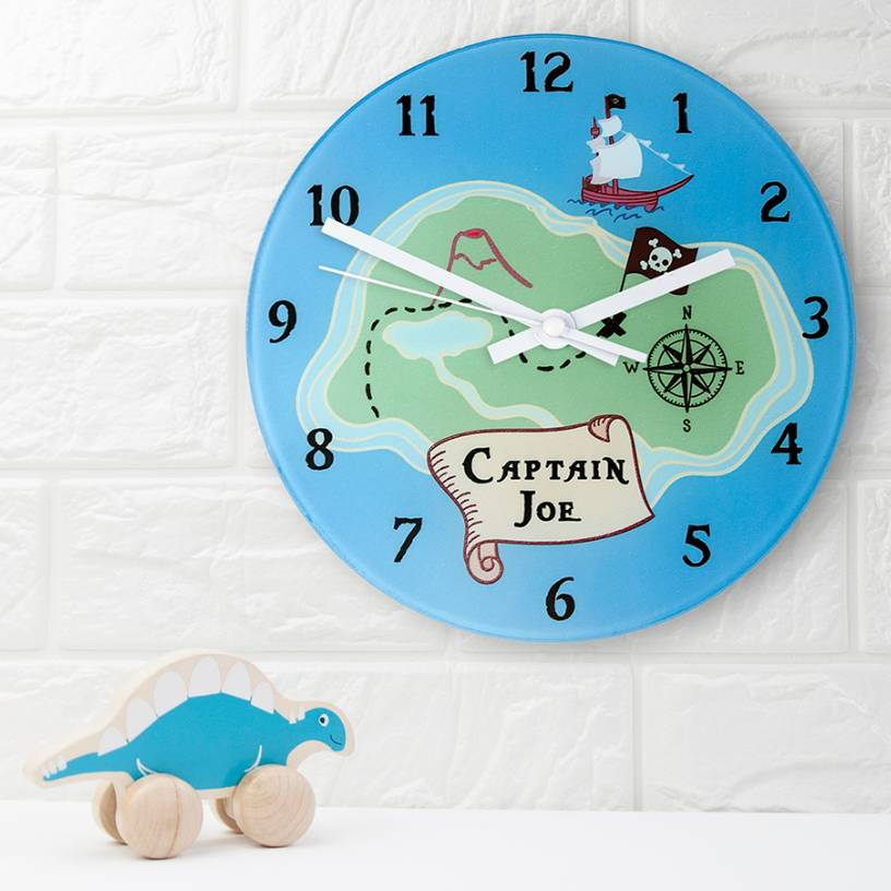 Personalised Arrrr Pirate Wall Clock By Thelittleboysroom