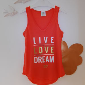 'Live Love Dream' T Shirt - women's fashion