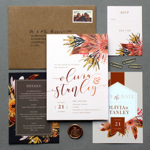 Arizona Earth Bohemian Wedding Invite Collection