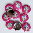 Set Of Cute Fairy 25mm Button Badges