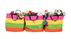 Striped Toy Bag - home