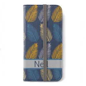 Personalised iPhone Cover With Mulitcolour Leaf Pattern