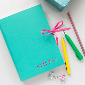 Leather Diary With Ribbon