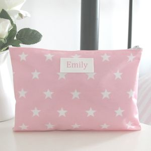 Personalised Star Make Up Bag - wash & toiletry bags