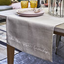 Personalised The Family Linen Table Runner