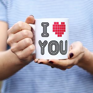 I Love You 80's Theme Mug