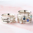 Personalised Birthstone Spinner Ring