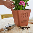 Personalised Birthday Engraved Terracotta Pot