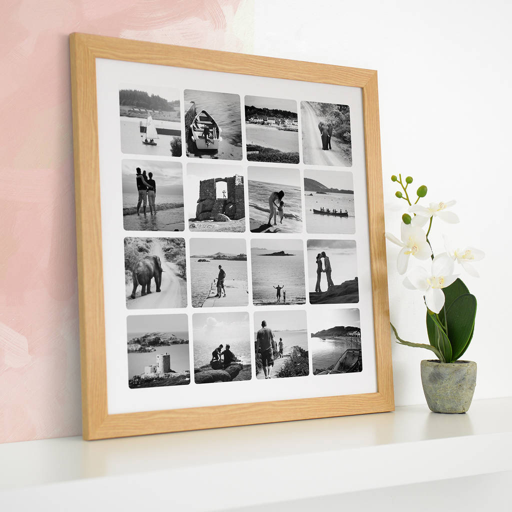 personalised photo collage canvas or print by cherry pete ...