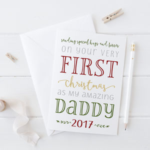 First Christmas As My Daddy Card - cards