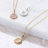 Genuine Diamond Initial Disc Necklace - fine jewellery