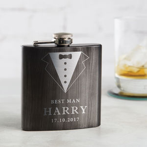 Personalised Best Man Hip Flask