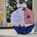 Happy Birthday Personalised Paper Boat Card