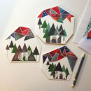 Christmas Card Geometric Animals