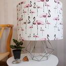 Flamingo Party Handmade Drum Lampshade