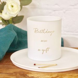 Personalised Birthday Candle - 40th birthday gifts