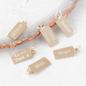 Personalised Teeny Tiny Text Charms - women's jewellery