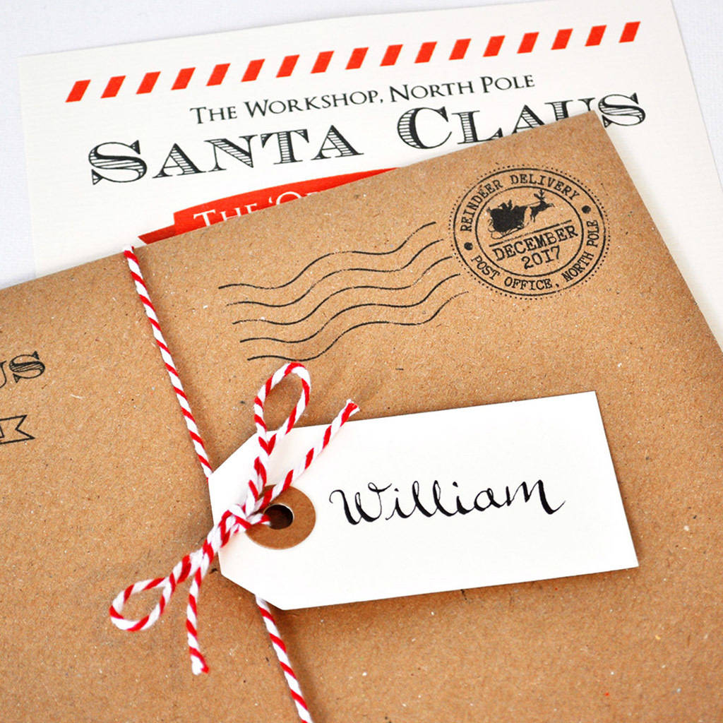Personalised naughty list letter from santa by eskimo kiss designs personalised santa letter spiritdancerdesigns Choice Image