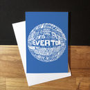 Everton Football Club Greetings Card