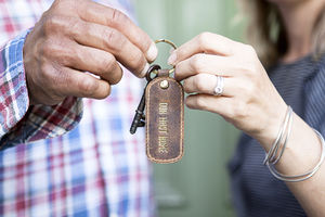 Personalised Leather Keyring - bag charms