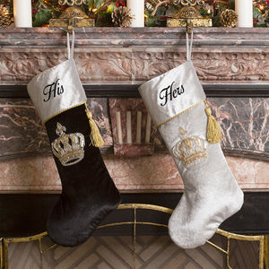 His And Hers Midnight Crown Jewels Stockings