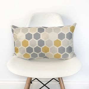 Geometric Hexagon Bolster Cushion Cover