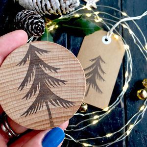 Winter Tree Hand Carved Rubber Stamp - christmas stamps