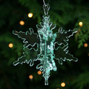 Clear Christmas Snowflake Decoration