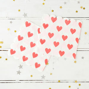 Love Heart Napkins - dining room