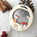 Personalised Baby's First Christmas Fox Bauble
