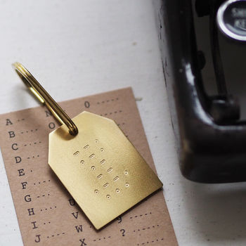 Personalised Morse Code Message Keyring