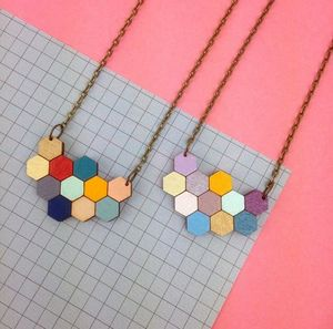 Hexagon Honeycomb Geometric Necklace - necklaces & pendants
