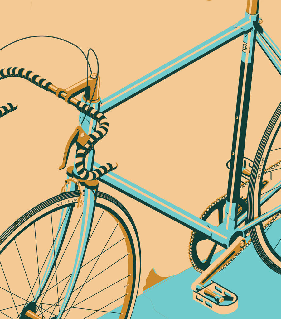 Fantastic Bicycle Wall Art Sketch - Wall Art Collections ...