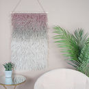 Blush Textile Wall Hanging