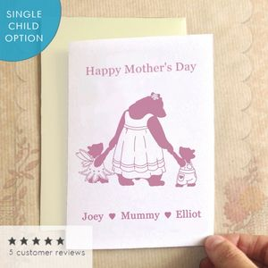 Mother's Day Bears Mother's Day Card