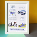 Personalised Sporting Achievement Story Print