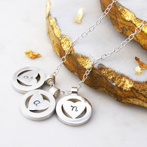 Personalised Heart Orbit Necklace