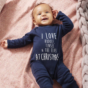 I Love … At Christmas Rompersuit - gifts for babies