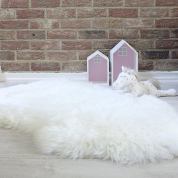 Cream Long Hair Sheepskin Rug