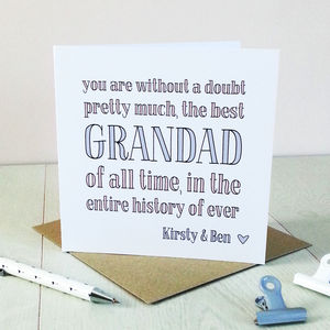 Best Grandad Ever, Personalised Card