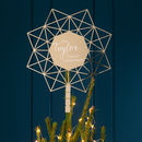 Personalised Geometric Star Christmas Tree Topper