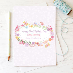 Personalised 'Happy 1st Mother's Day As My Mummy' Card - first mother's day cards