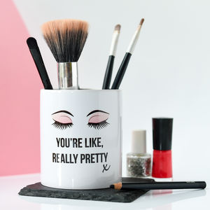 Personalised Make Up Brush Pot - make-up bags