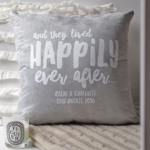 Happily Ever After Newlywed Couples Cushion - cushions