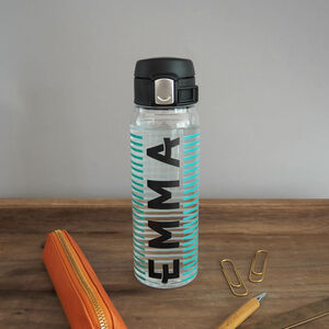 Personalised Stripe Water Bottle