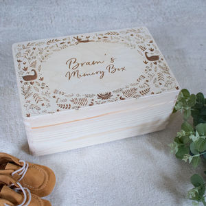 Personalised Woodland Memory Box - keepsake boxes