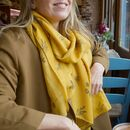 Personalised 'Help Save The Bees' Recycled Scarf